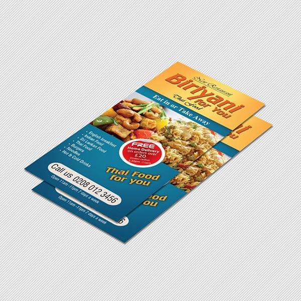 DL leaflet printing and dl flyer printing London