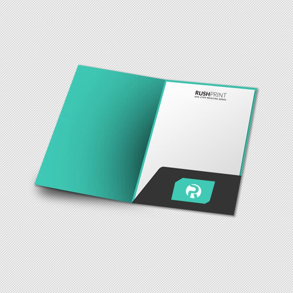 A4 Glued Presentation Folder Printing - Presentation Folder Printing London