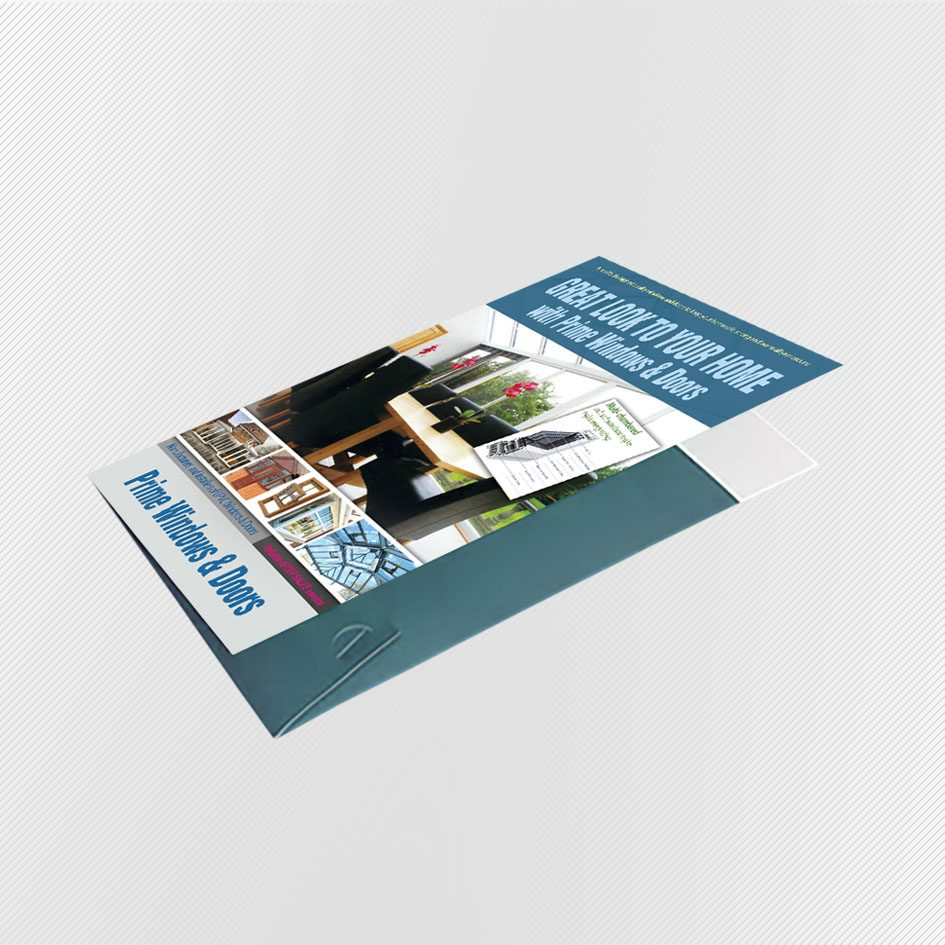 A5 Interlocking Presentation Folders Printing - Presentation Folder Printing UK