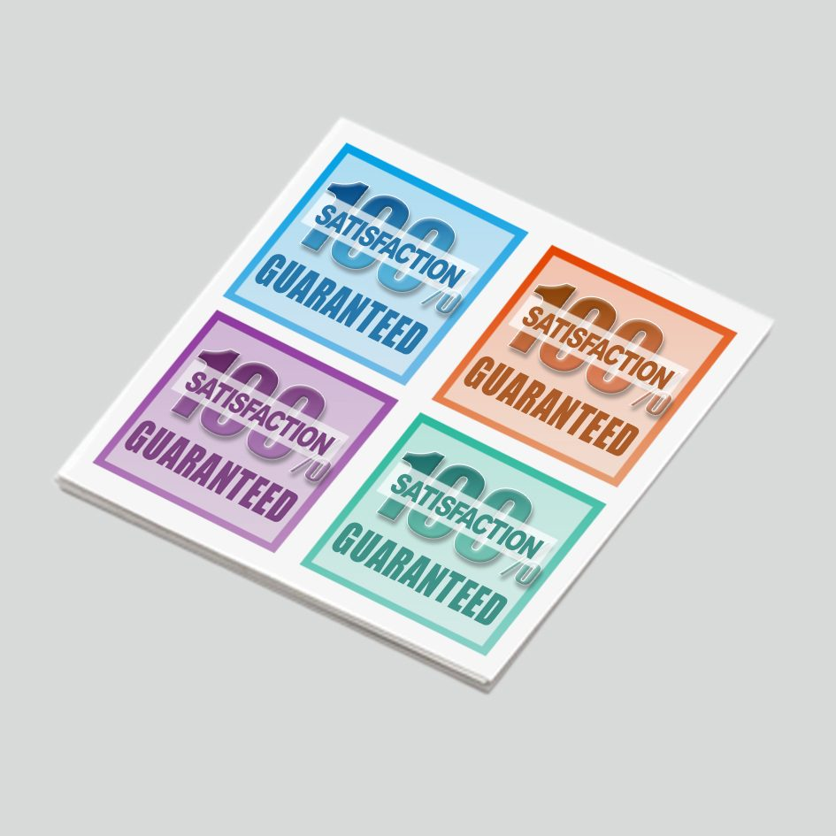 45x45mm Rectangle Sticker Printing | Rectangle Label Printing & FREE Shipping‎