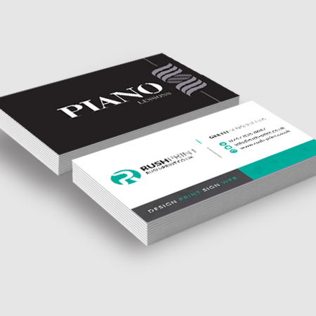 Standard Business Cards, Quality Design & Printing by Rush Print's