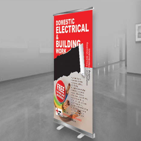 High quality roller banner printing UK with free delivery